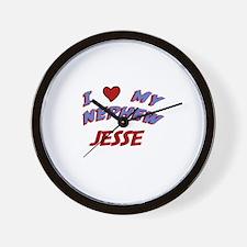 I Love My Nephew Jesse Wall Clock