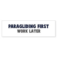 Paragliding First Bumper Bumper Sticker