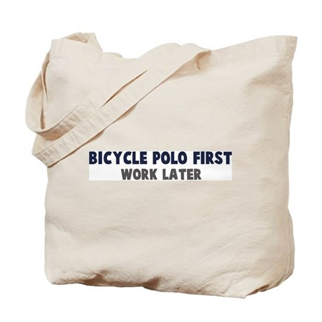 Bicycle Polo First Tote Bag