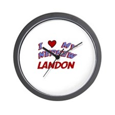 I Love My Nephew Landon Wall Clock