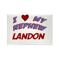 I Love My Nephew Landon Rectangle Magnet