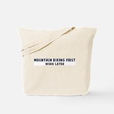 Mountain Biking First Tote Bag