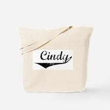 Cindy Vintage (Black) Tote Bag