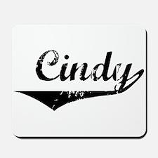 Cindy Vintage (Black) Mousepad