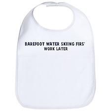 Barefoot Water Skiing First Bib