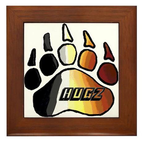 BEAR PRIDE PAW/HUGZ Framed Tile