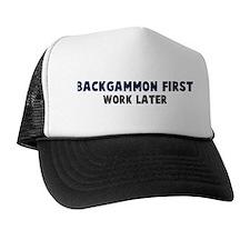 Backgammon First Trucker Hat