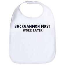 Backgammon First Bib