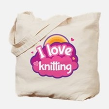 Knitter I Love Knitting Tote Bag