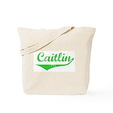 Caitlin Vintage (Green) Tote Bag
