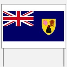 Large flag Turk & Caicos Yard Sign