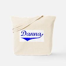 Danna Vintage (Blue) Tote Bag