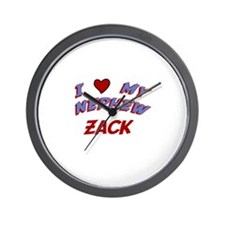 I Love My Nephew Zack Wall Clock