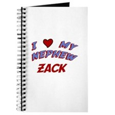 I Love My Nephew Zack Journal