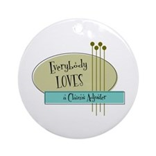 Everybody Loves a Claims Adjuster Ornament (Round)