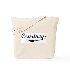 Courtney Vintage (Black) Tote Bag