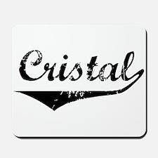 Cristal Vintage (Black) Mousepad