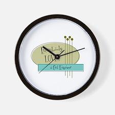 Everybody Loves a Civil Engineer Wall Clock
