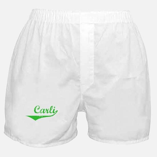 Carli Vintage (Green) Boxer Shorts