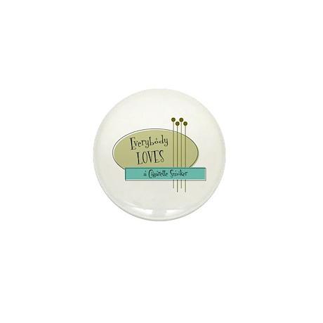Everybody Loves a Cigarette Smoker Mini Button (10