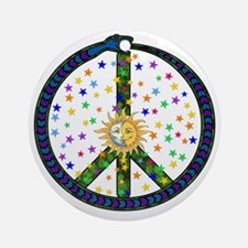 Solstice Peace Ornament (Round)
