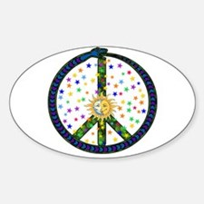 Solstice Peace Oval Decal