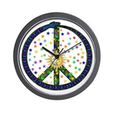 Solstice Peace Wall Clock