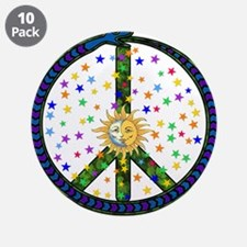 """Solstice Peace 3.5"""" Button (10 pack)"""