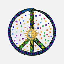 "Solstice Peace 3.5"" Button"