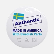Made in America with Swedish Ornament (Round)