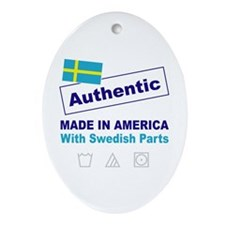 Made in America with Swedish Oval Ornament