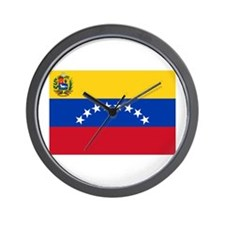 Flag Venezuela 8 stars Wall Clock