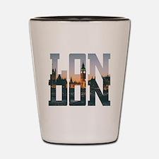 Cute London calling Shot Glass