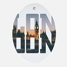 London england city – Typo Oval Ornament