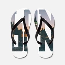London england city – Typo Flip Flops