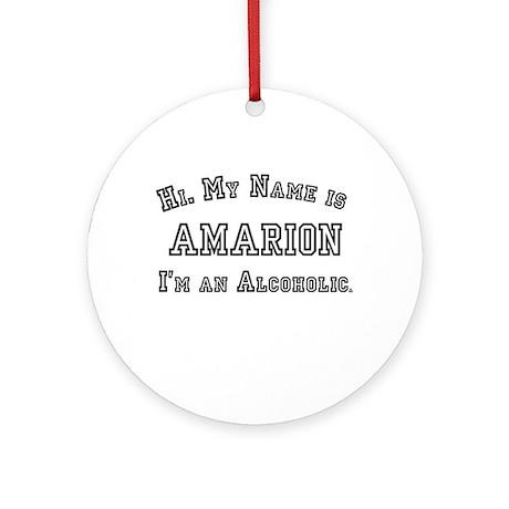 Amarion Ornament (Round)
