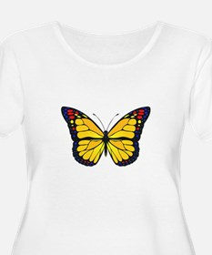 Yellow butterfly Plus Size T-Shirt