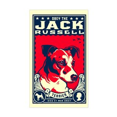 Obey the Jack Russell! Rectangle Decal
