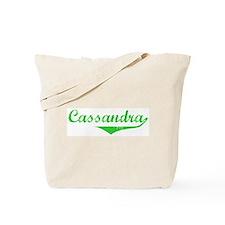 Cassandra Vintage (Green) Tote Bag