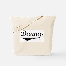 Danna Vintage (Black) Tote Bag