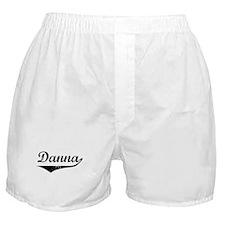 Danna Vintage (Black) Boxer Shorts