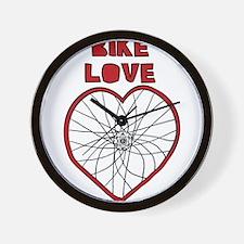Bike Love Bent Wheel (black spokes) Wall Clock