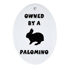 Owned by a Palomino Rabbit Keepsake (Oval)