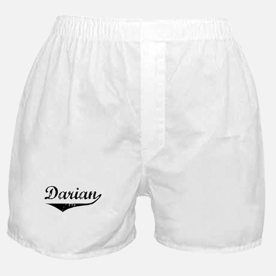 Darian Vintage (Black) Boxer Shorts