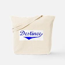 Destinee Vintage (Blue) Tote Bag