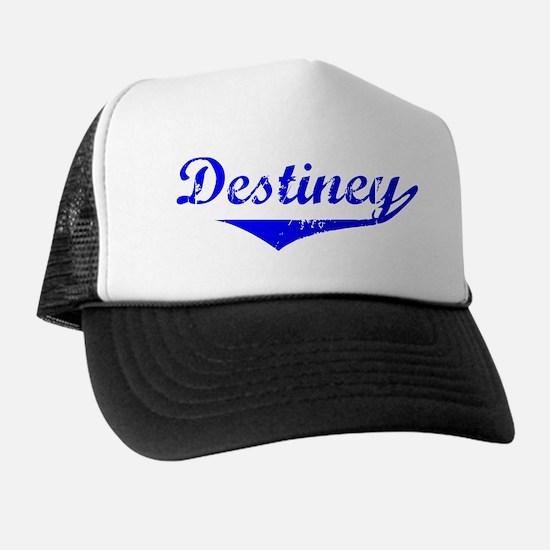 Destiney Vintage (Blue) Trucker Hat