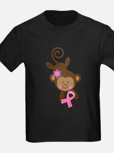 Breast Cancer Ribbon Monkey T-Shirt