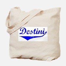 Destini Vintage (Blue) Tote Bag