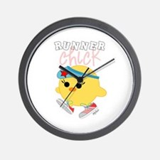 Runner Chick Wall Clock