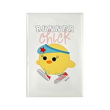 Runner Chick Rectangle Magnet (100 pack)